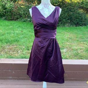 David's Bridal Sleeveless Dress with Ruched Waist